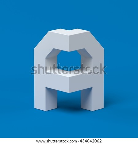 Isometric font letter A 3d - stock photo