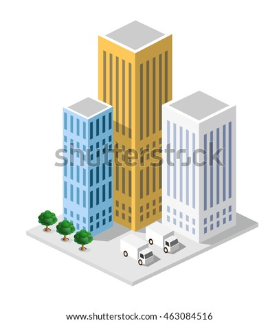 Isometric in a big city