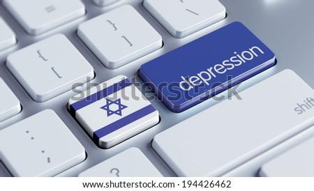 Israel High Resolution Depression Concept - stock photo