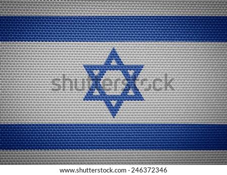 Israeli fabric flags - stock photo