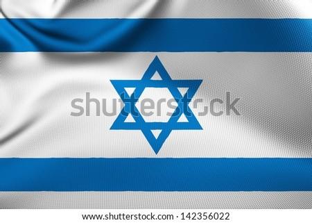 Israeli flag. - stock photo