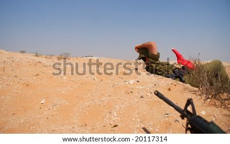 israeli soldiers attacks - war againist terror - stock photo