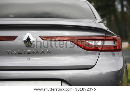 ISTANBUL - FEBRUARY: the new middle-class representative of the Renault Talisman February 2016 in Istanbul. French car brand - stock photo
