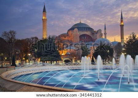 Istanbul. Image of Hagia Sophia in Istanbul, Turkey. - stock photo