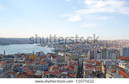 Istanbul panorama view - stock photo