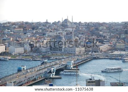 Istanbul panoramic view - stock photo