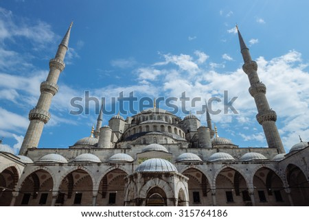 Istanbul's Blue Mosque - stock photo