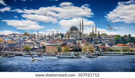Istanbul the capital of Turkey, eastern tourist city. - stock photo