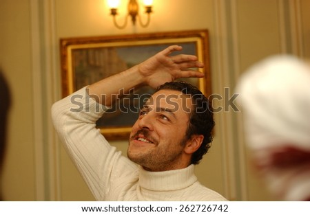 ISTANBUL, TURKEY - APRIL  8:  Famous Turkish  actor  Yetkin Dikinciler Portrait on on April 8, 2005 in Istanbul, Turkey.