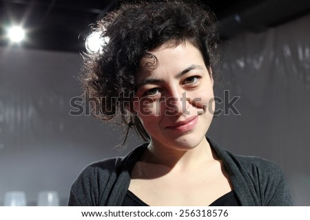 ISTANBUL, TURKEY - AUGUST 8: Famous Turkish actress, thespian and television series star Nergis Ozturk portrait on August 8, 2011 in Istanbul, Turkey. - stock photo