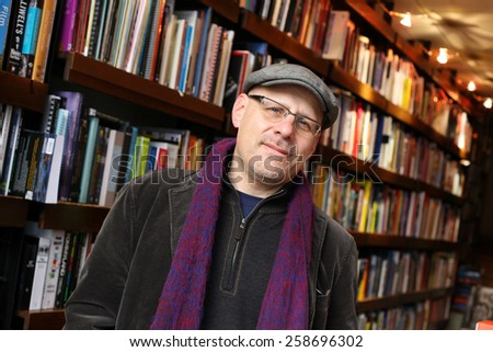 ISTANBUL, TURKEY - DECEMBER 30: Famous American author and broadcaster Eric Weiner portrait on December 30, 2009 in Istanbul, Turkey. Eric Weiner was a longtime correspondent for National Public Radio