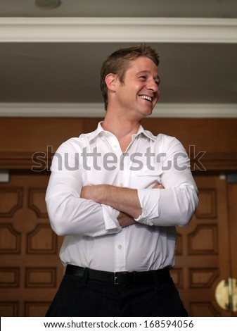 ISTANBUL, TURKEY - JUNE 17: Famous American actor and producer Benjamin McKenzie on June 17, 2010 in Istanbul, Turkey. He is known for playing Ryan Atwood in the television series The O.C.