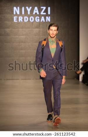 ISTANBUL, TURKEY - MARCH 16, 2015: Niyazi Erdogan Catwalk held during Mercedes-Benz Fashion Week Istanbul