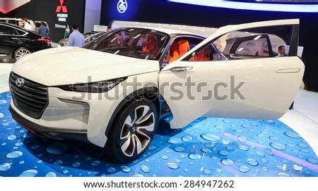 ISTANBUL, TURKEY - MAY 21, 2015: Hyundai Intrado concept in Istanbul Autoshow 2015