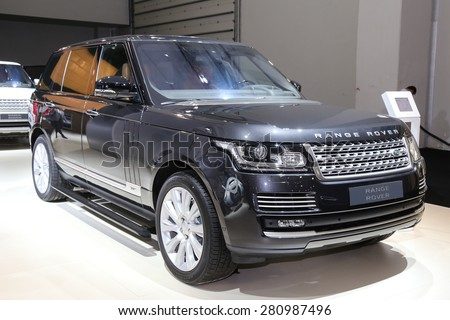 ISTANBUL, TURKEY - MAY 21, 2015: Land Rover Range Rover in Istanbul Autoshow 2015 - stock photo