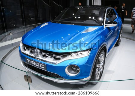 ISTANBUL, TURKEY - MAY 21, 2015: Volkswagen T-Roc Concept in Istanbul Autoshow 2015