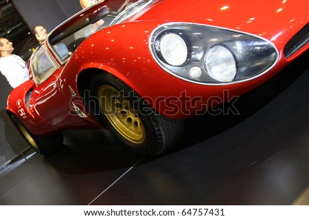 ISTANBUL, TURKEY - NOVEMBER 07: Alfa Romeo 33 Stradale at 13th International Auto Show on November 07, 2010 in Istanbul, Turkey.