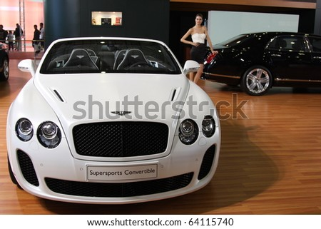 ISTANBUL, TURKEY - OCTOBER 30: Bentley Continental Supersports Convertible at 13th International Auto Show on October 30, 2010 in Istanbul, Turkey.