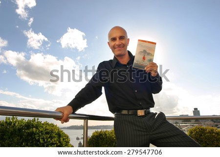 ISTANBUL, TURKEY - OCTOBER 17: Canadian author, speaker and leadership expert Robin Sharma on October 17, 2006 in Istanbul, Turkey. He is the author of best sellers, The Monk Who Sold His Ferrari. - stock photo