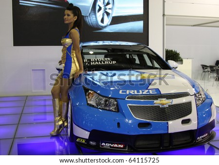 ISTANBUL, TURKEY - OCTOBER 30: Chevrolet Cruze Touring Car at 13th International Auto Show on October 30, 2010 in Istanbul, Turkey. - stock photo