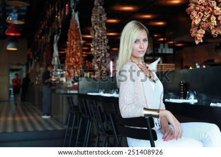 ISTANBUL, TURKEY - OCTOBER 4: Famous Irish model and actress Chloe Loughnan portrait on October 4, 2013 in Istanbul, Turkey. Chloe Loughnan is the wife of famous Turkish singer Serdar Ortac.