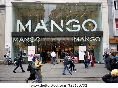 ISTANBUL, TURKEY - OCTOBER 02, 2015: MANGO Fashion Store in istanbul on OCTOBER 02, 2015 in Istanbul.MANGO is a clothing design and manufacturing company. - stock photo