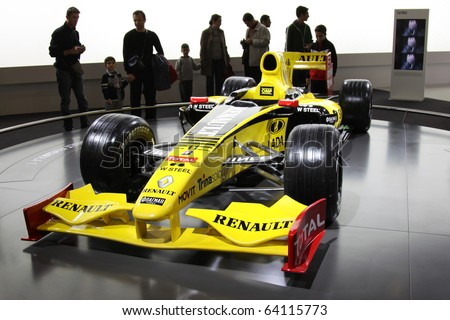 ISTANBUL, TURKEY - OCTOBER 30: Renault F1 car at 13th International Auto Show on October 30, 2010 in Istanbul, Turkey. - stock photo