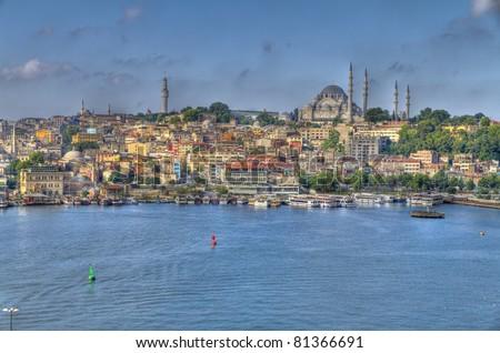 Istanbul Turkey,Panoramic View - stock photo