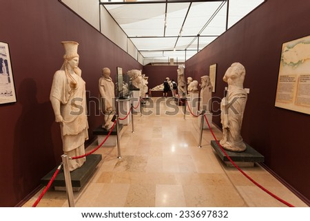 ISTANBUL, TURKEY - SEPTEMBER 07, 2014: Istanbul Archaeology Museum on September 07, 2014 in Istanbul, Turkey - stock photo
