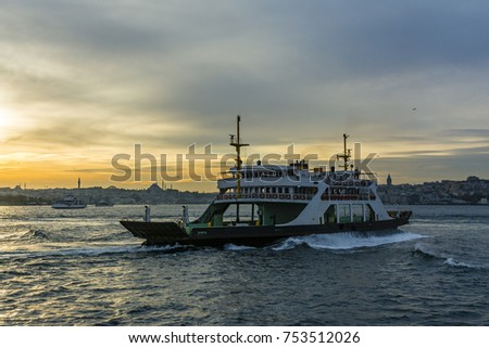 Istanbul view in sunset