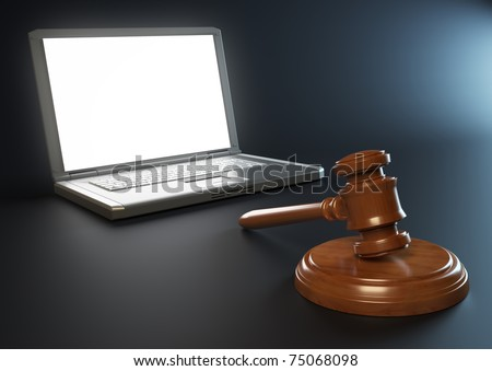 IT and legal issues concept - stock photo
