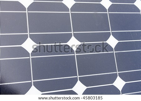 It is a Closeup of Solar Panels useful for alternative energy themes - stock photo