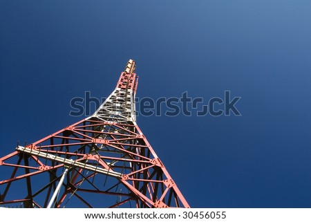 It is a discard of electronic tower. - stock photo