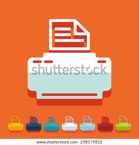 it is a flat design in modern style - stock photo