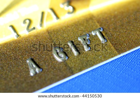 It is A Gift to someone special isolated on blue - stock photo