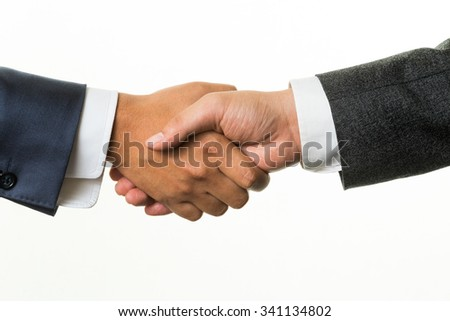 It is a handshake business talk success - stock photo