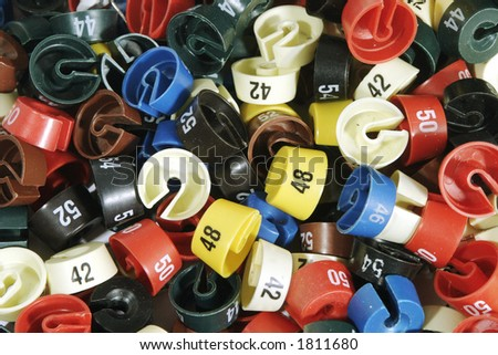 It is a lot of colour size washers - stock photo