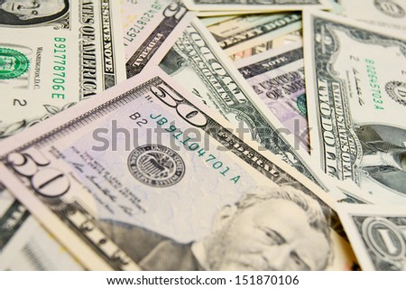 It is a lot of money (dollars). - stock photo