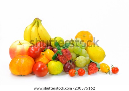 It is a multiple of fruit that was available in Japan. - stock photo