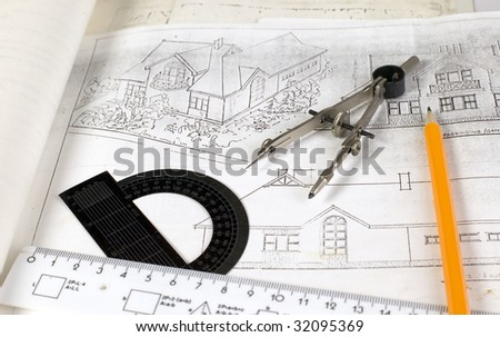 It is a plan of home with drawing tools on it