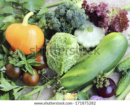 It is a  ripe fresh vegetables close up - stock photo