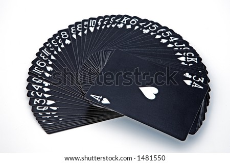 it is a simulation of a chance game - stock photo