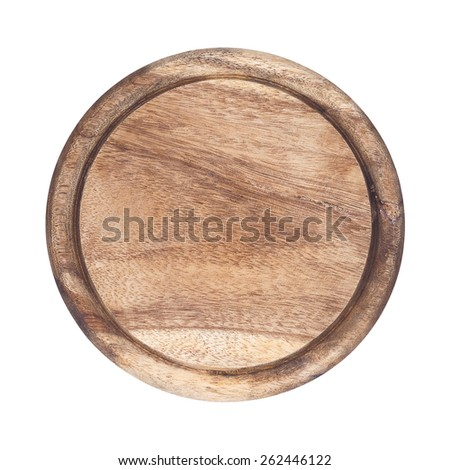 It is Circle cutting board isolated on white. - stock photo