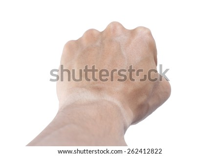 It is Fist and arm for pattern. - stock photo