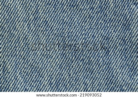 It is Old blue jeans texture for pattern and background. - stock photo
