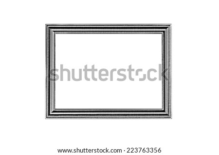 It is Old wooden frame isolated on white background. - stock photo
