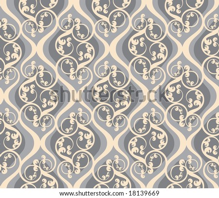 It is the raster version, the vector version look in my portfolio. Seamless background from a floral ornament, Fashionable modern wallpaper or textile