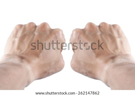 It is two Fist and arm for pattern. - stock photo