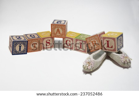 It's a girl announcement - stock photo