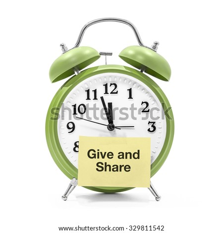 It's about time to give and share - stock photo